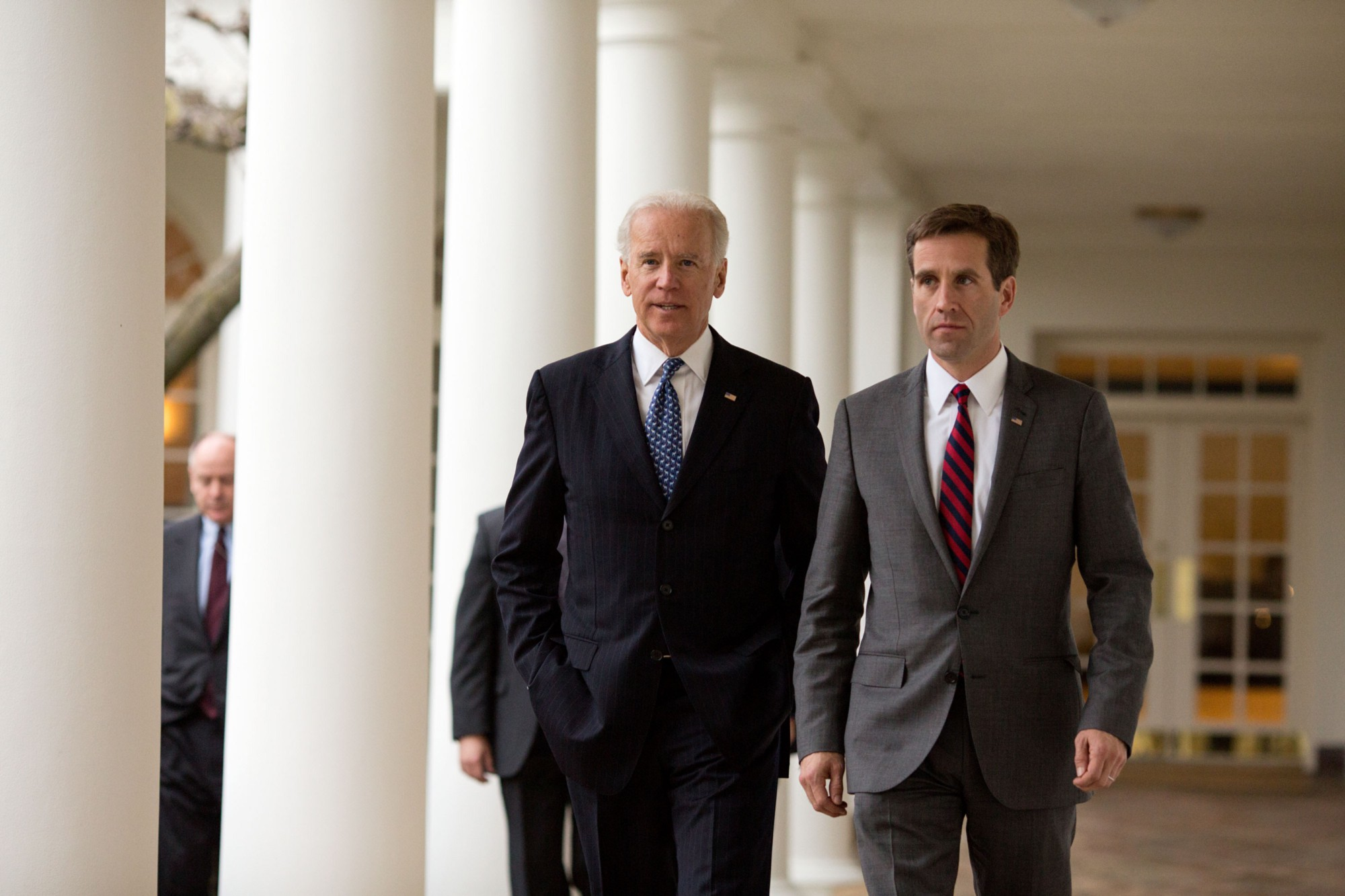 Beau Biden and Vice President Biden Walk at the White House