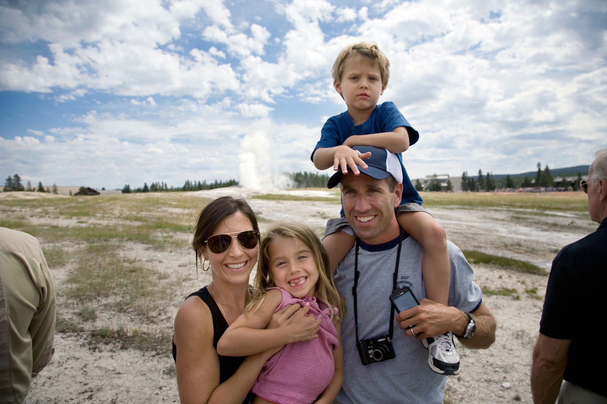 Beau Biden and family at a national park.