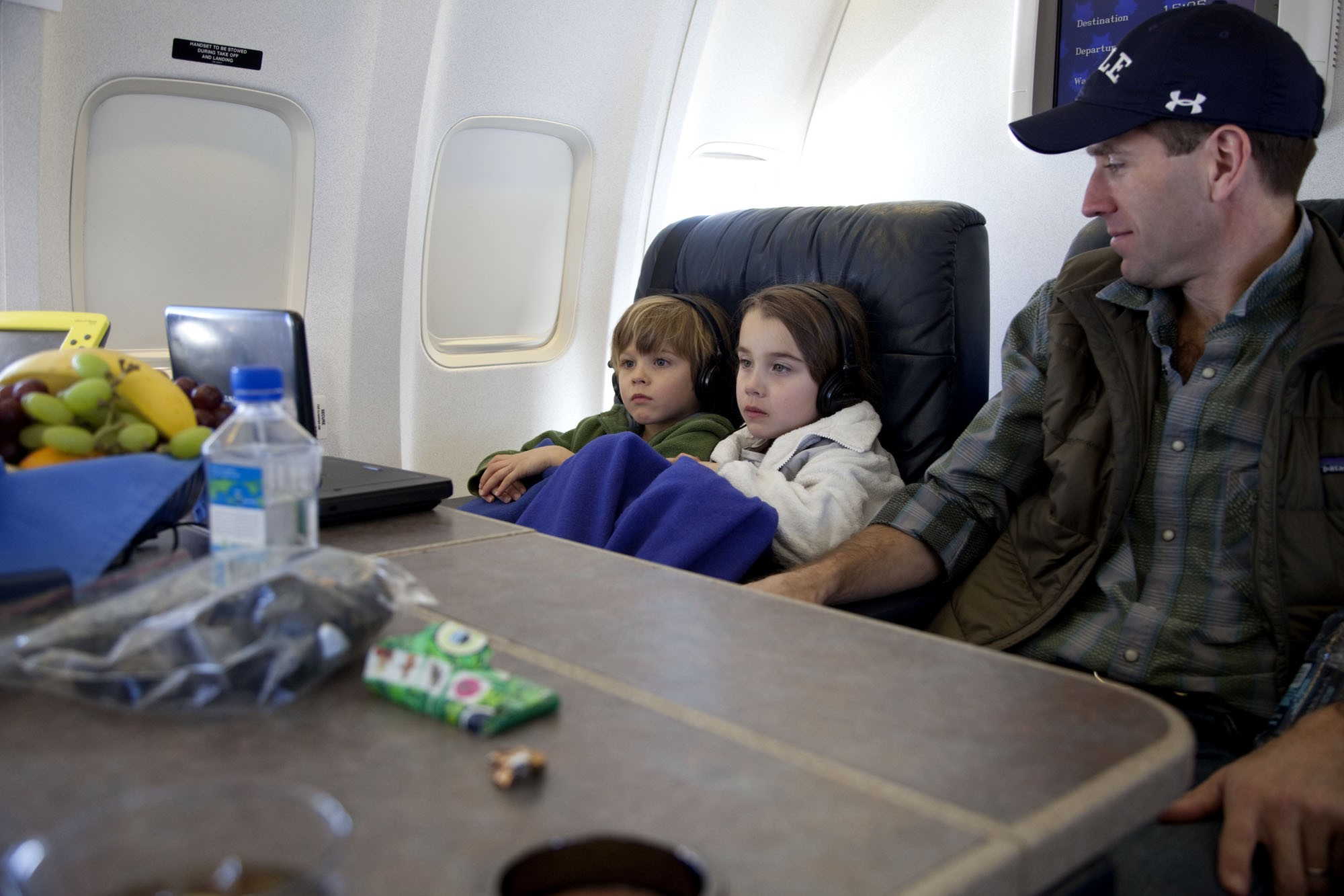 Beau Biden and children on Air Force One