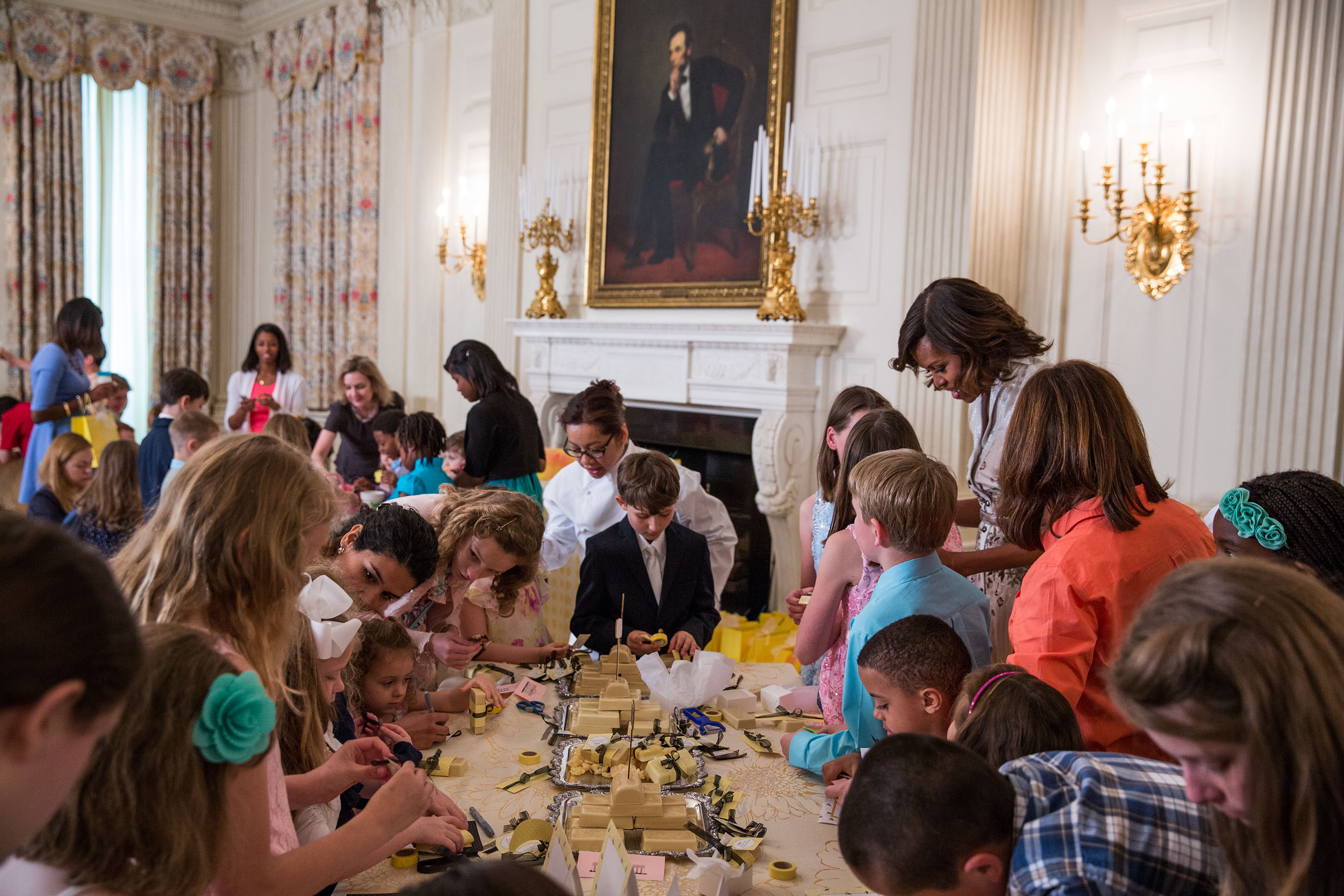 In photos four years of joining forces whitehouse the first lady helps children create mothers day cards in the state dining room in the dzzzfo