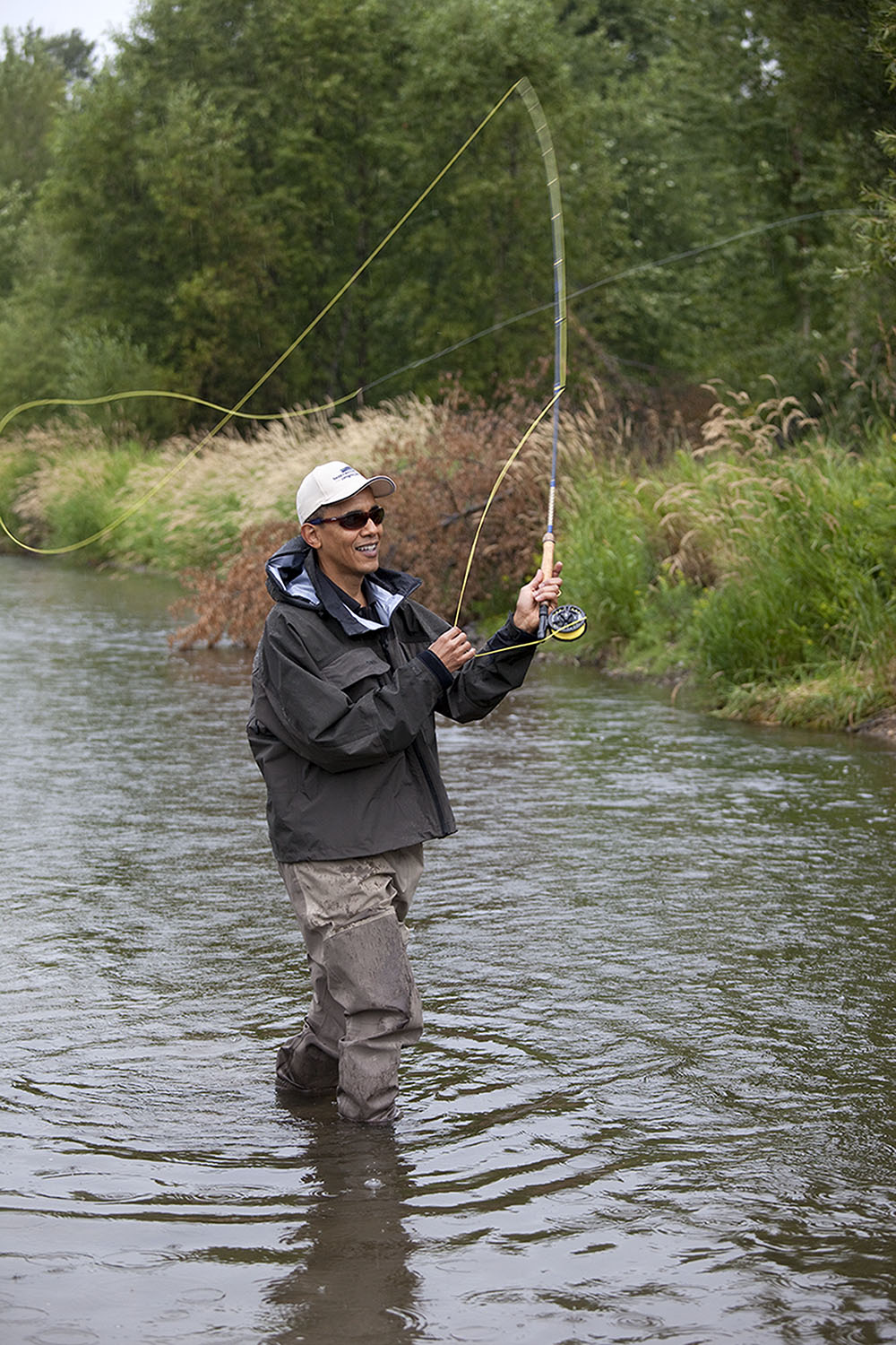 Montana, Aug. 14, 2009. Fly fishing near Bozeman. (Official White House photo by Pete Souza)