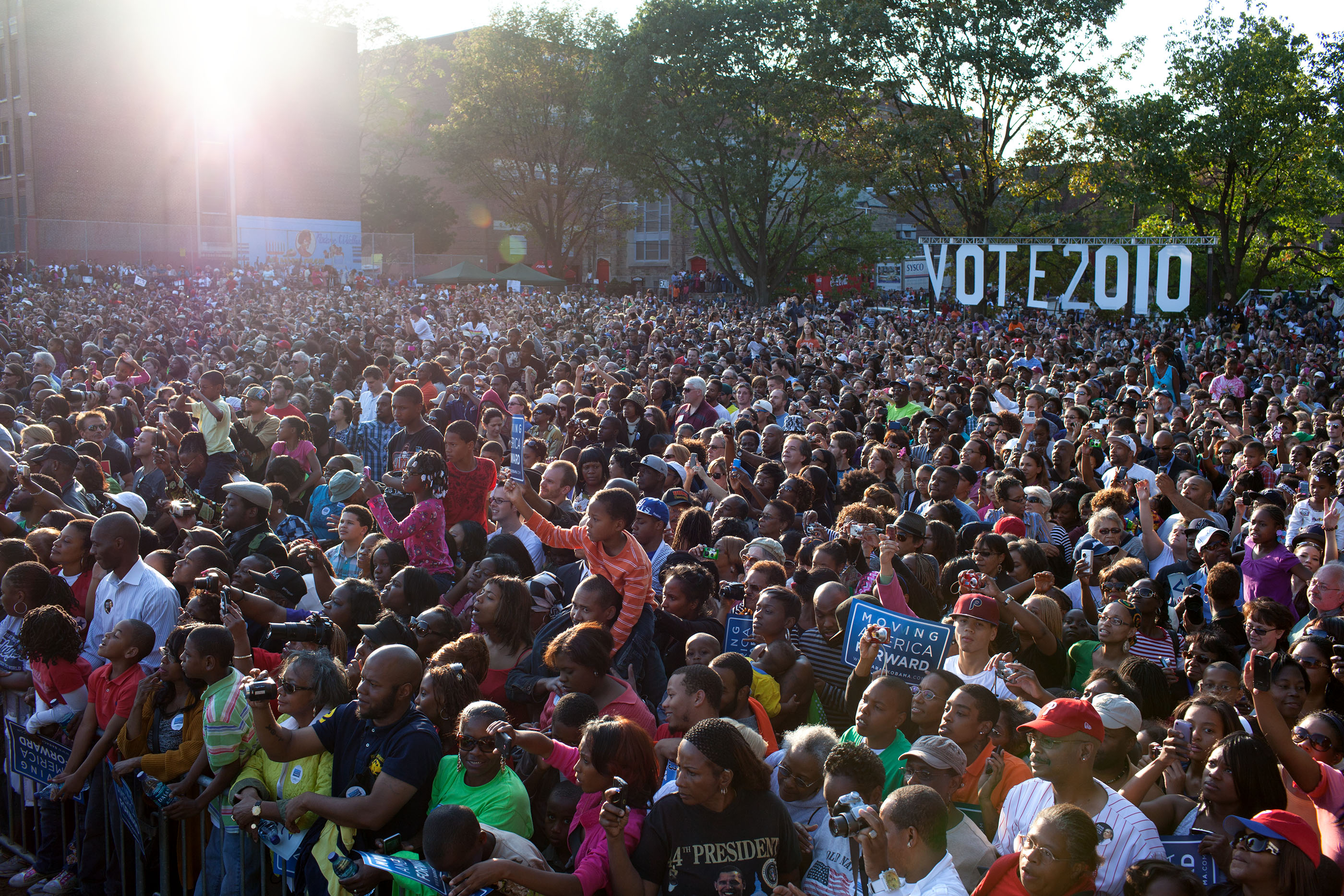 Pennsylvania, Oct. 10, 2010. The crowd at a rally in Philadelphia. (Official White House Photo by Pete Souza)
