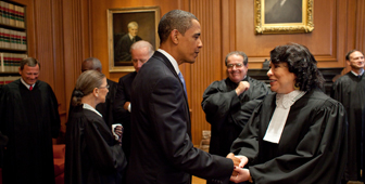 President Obama and Supreme Court Justices