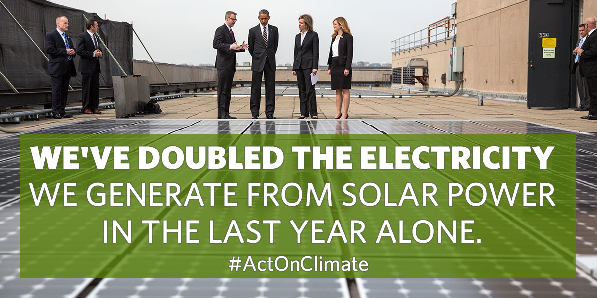 We've doubled the electricity we generate from solar in the last year