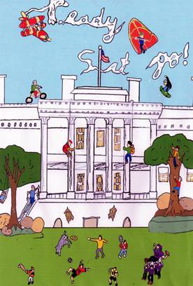Winning 2010 Easter Egg Roll Poster