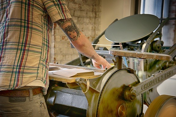 A Printing Press in Action