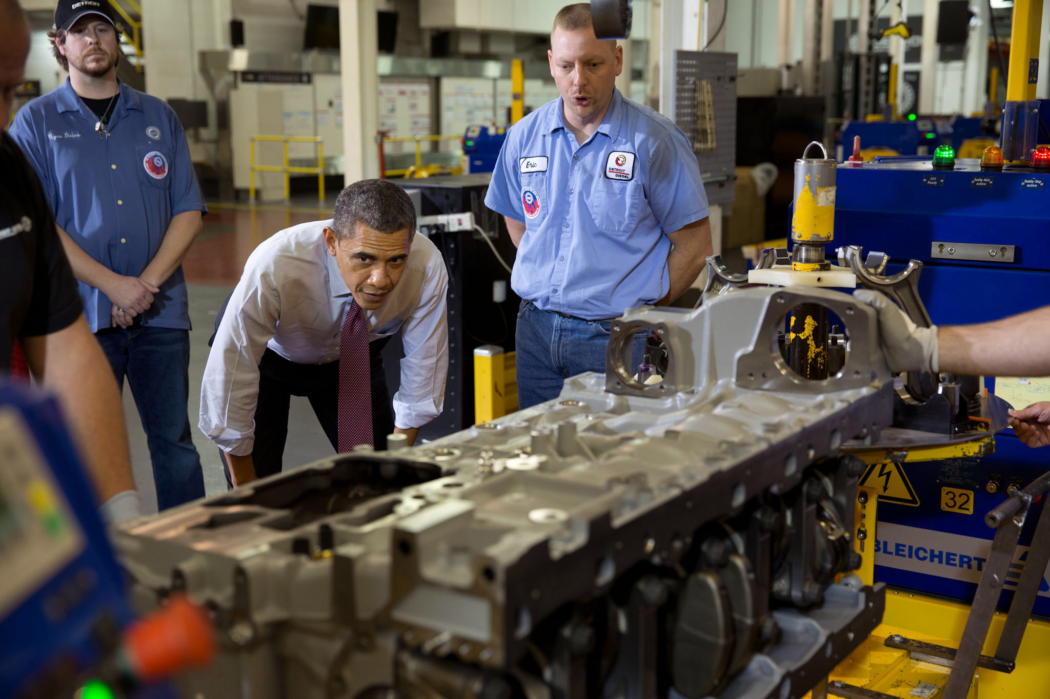 President Obama Tours the Detroit Diesel Facility, Dec. 10, 2012.