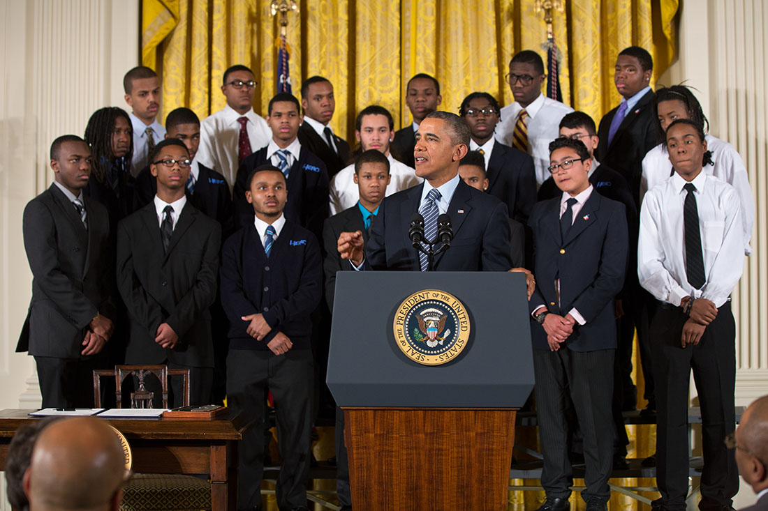 President Barack Obama delivers remarks at an event to highlight