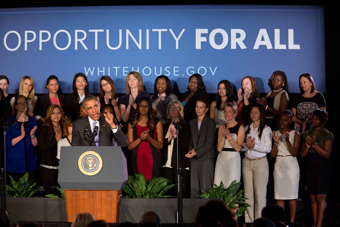 President Barack Obama delivers remarks on the economy at the West Campus of Valencia College in Orlando, Fla., March 20, 2014.