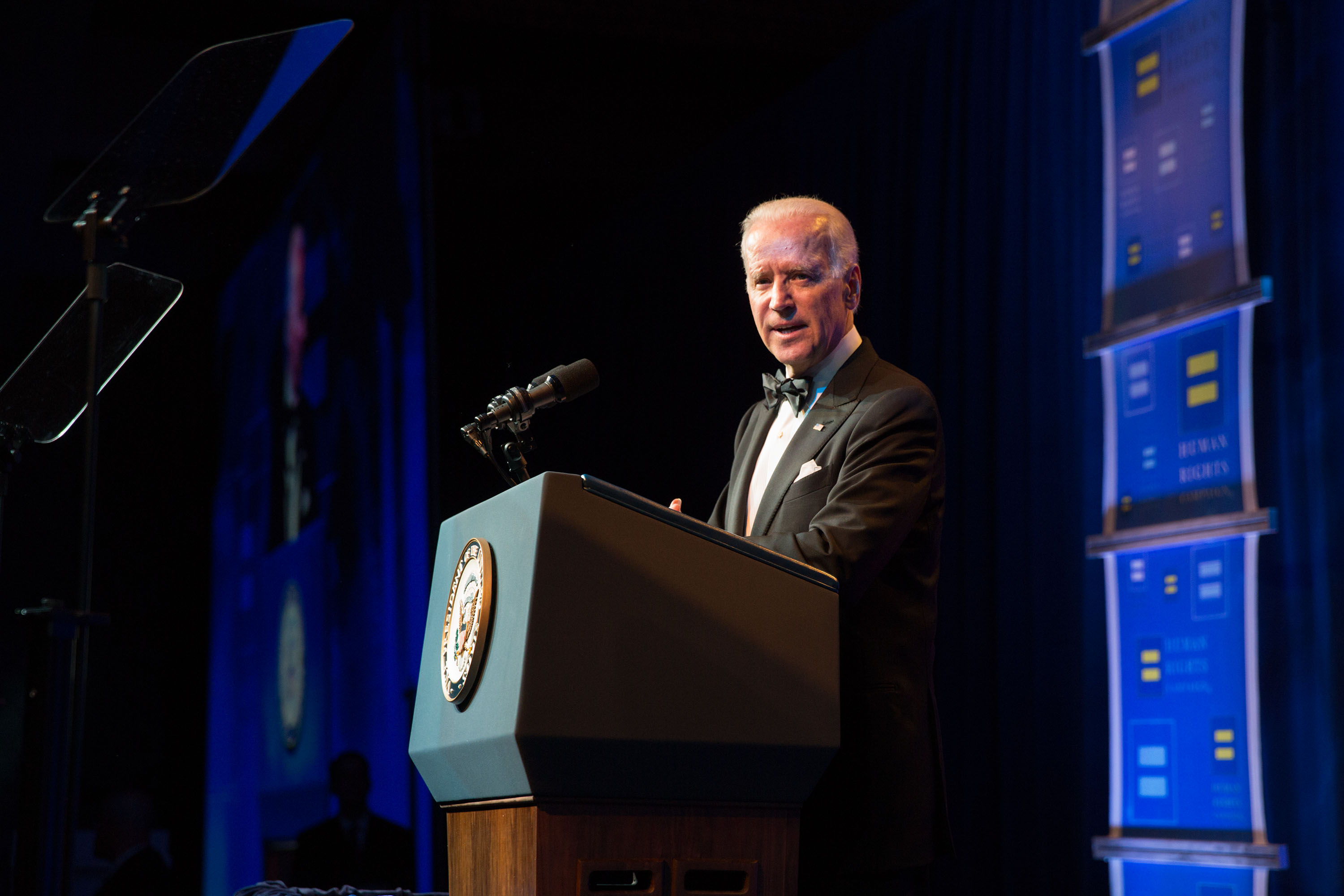 Vice President Joe Biden gives the keynote address at the Human Rights Campaign gala in Los Angeles, Calif., March 22, 2014.