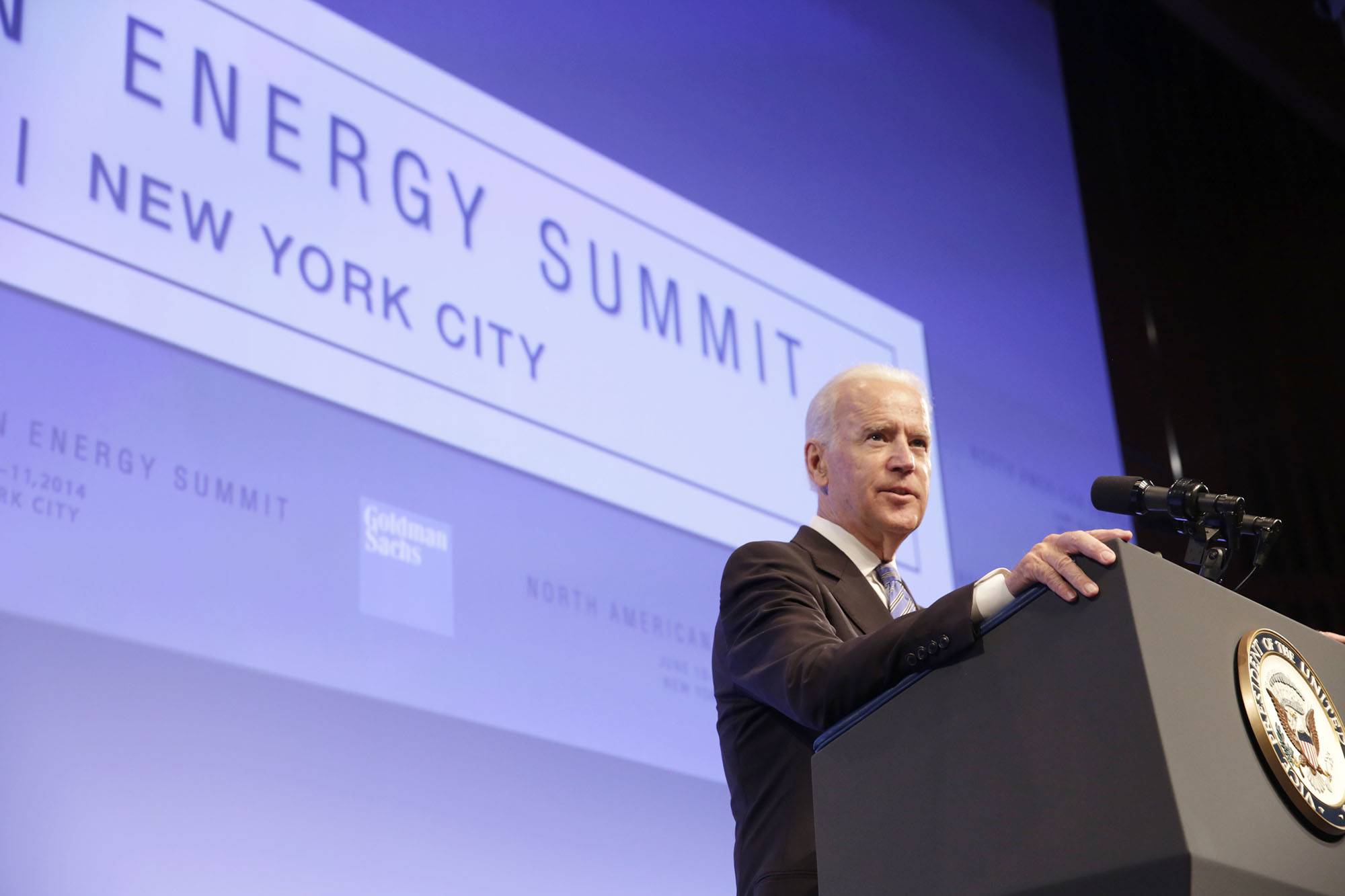 Vice President Biden delivers remarks at the North American Energy Summit in New York City