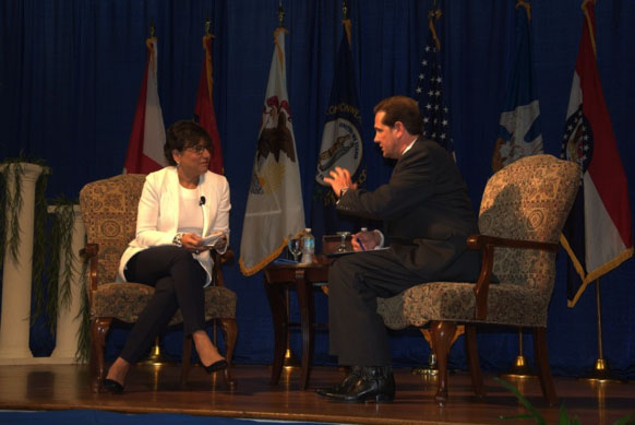 U.S. Department of Commerce Secretary Penny Pritzker with Delta Regional Authority Federal Co-Chairman Chris Masingill
