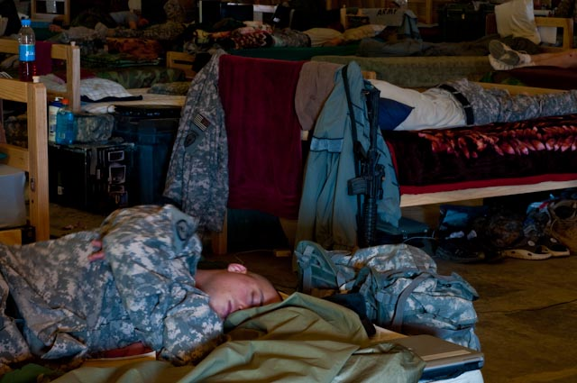 Troops Sleeping in Camp Clark, Afghanistan