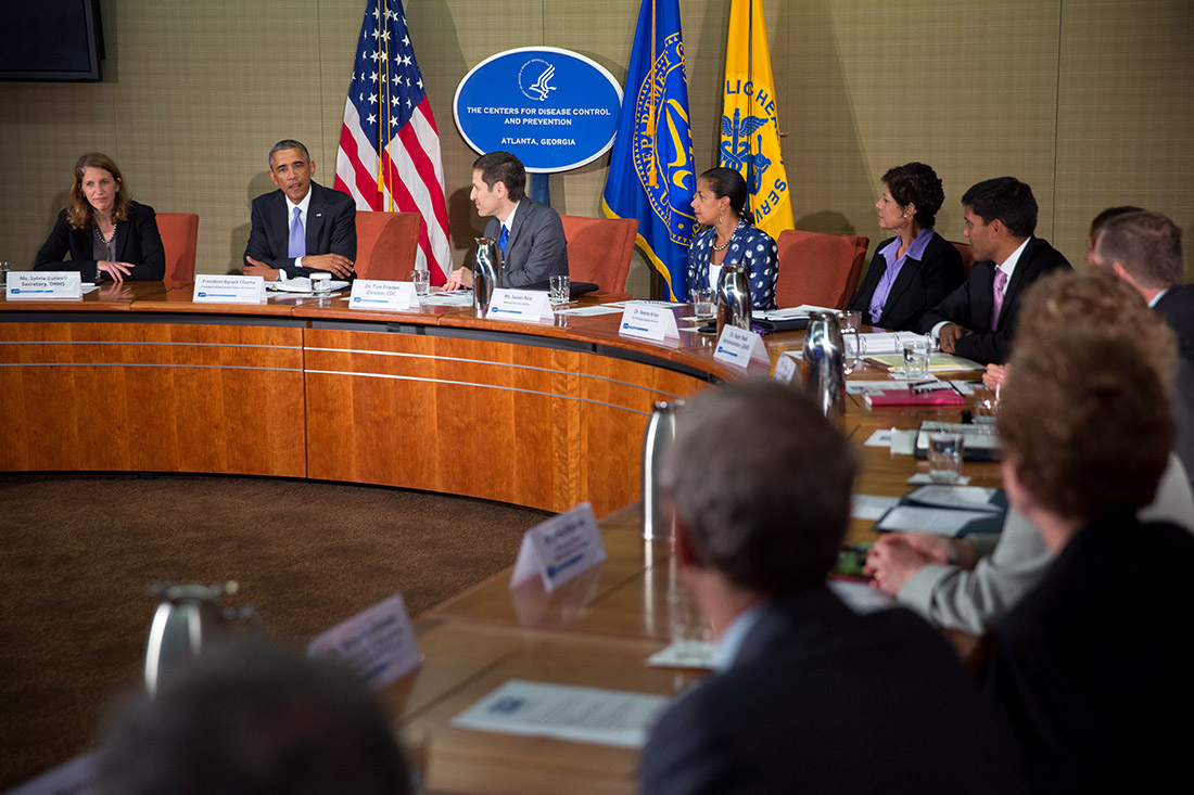 President Barack Obama convenes briefing on the Ebola virus at the Centers for Disease Control and Prevention