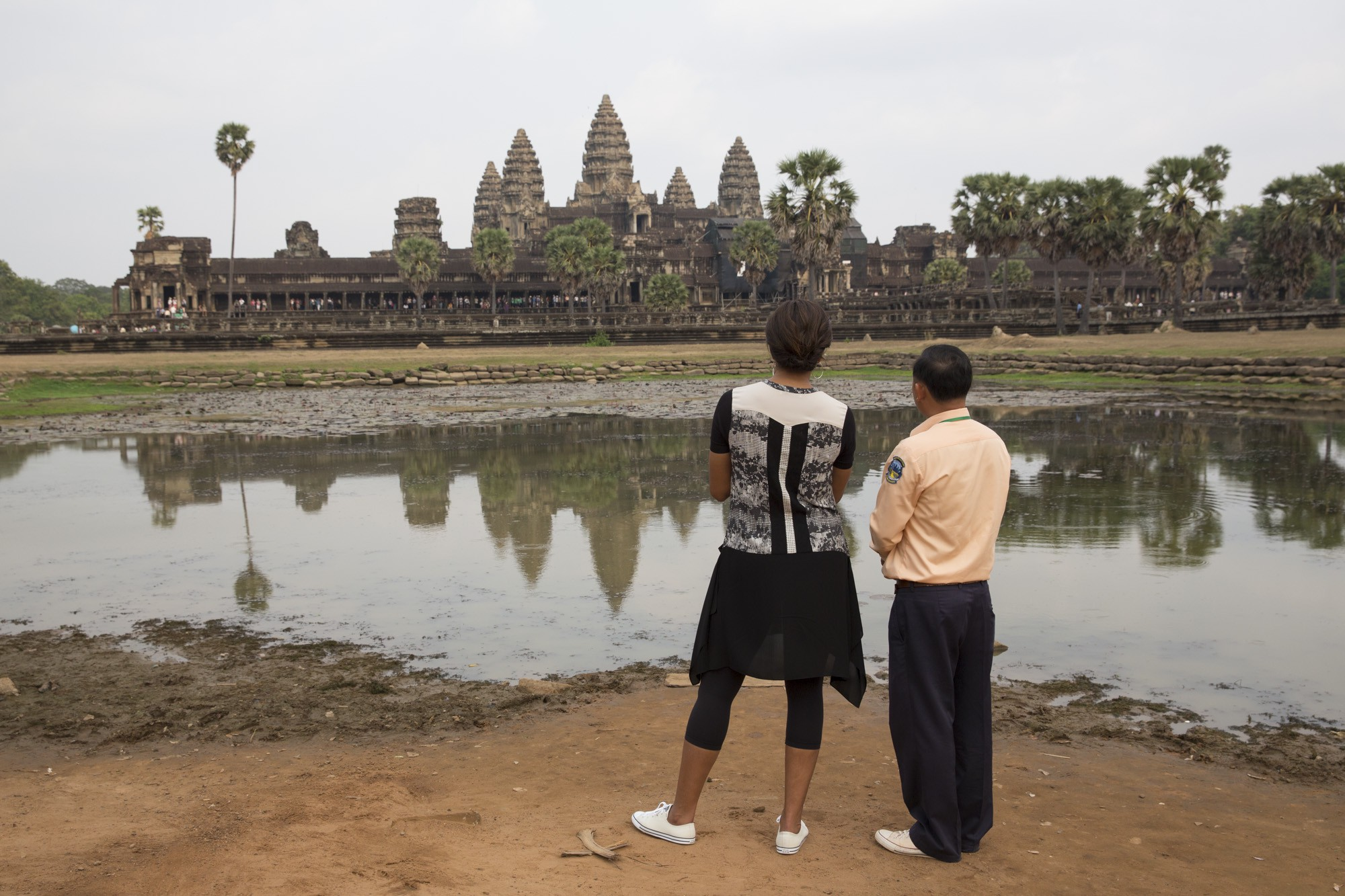 First Lady Michelle Obama visits Ta Phrom in Angkor Wat 2