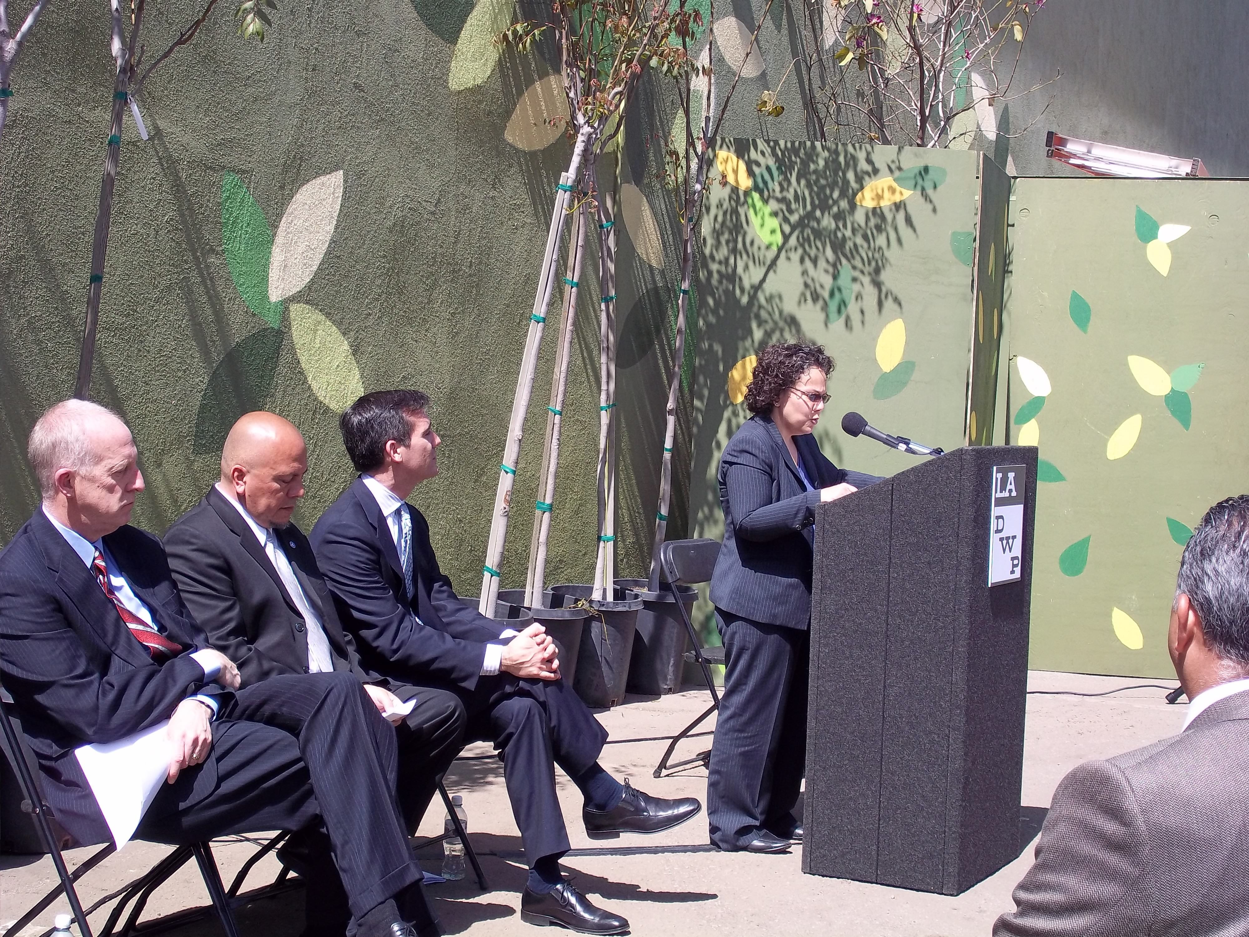 Nancy Sutley Announcing Energy-Efficiency Grants