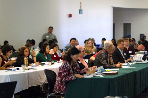 Community members attend an all-day grant-writing training in Los Angeles, CA