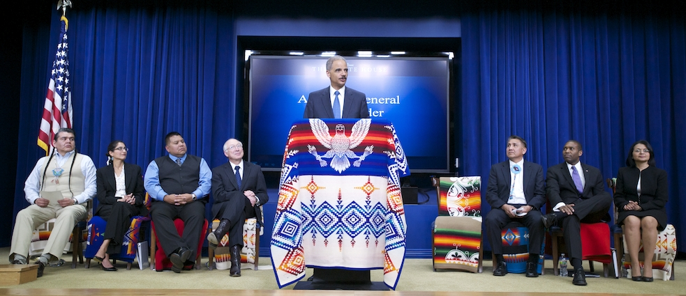 Attorney General Eric Holder at Tribal Trust Settlement Event