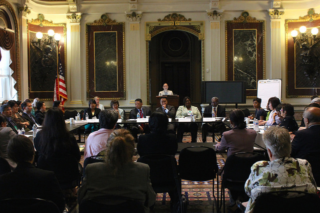 Federal and community experts convene at the AAPI Behavioral Health Forum, May 9, 2014.