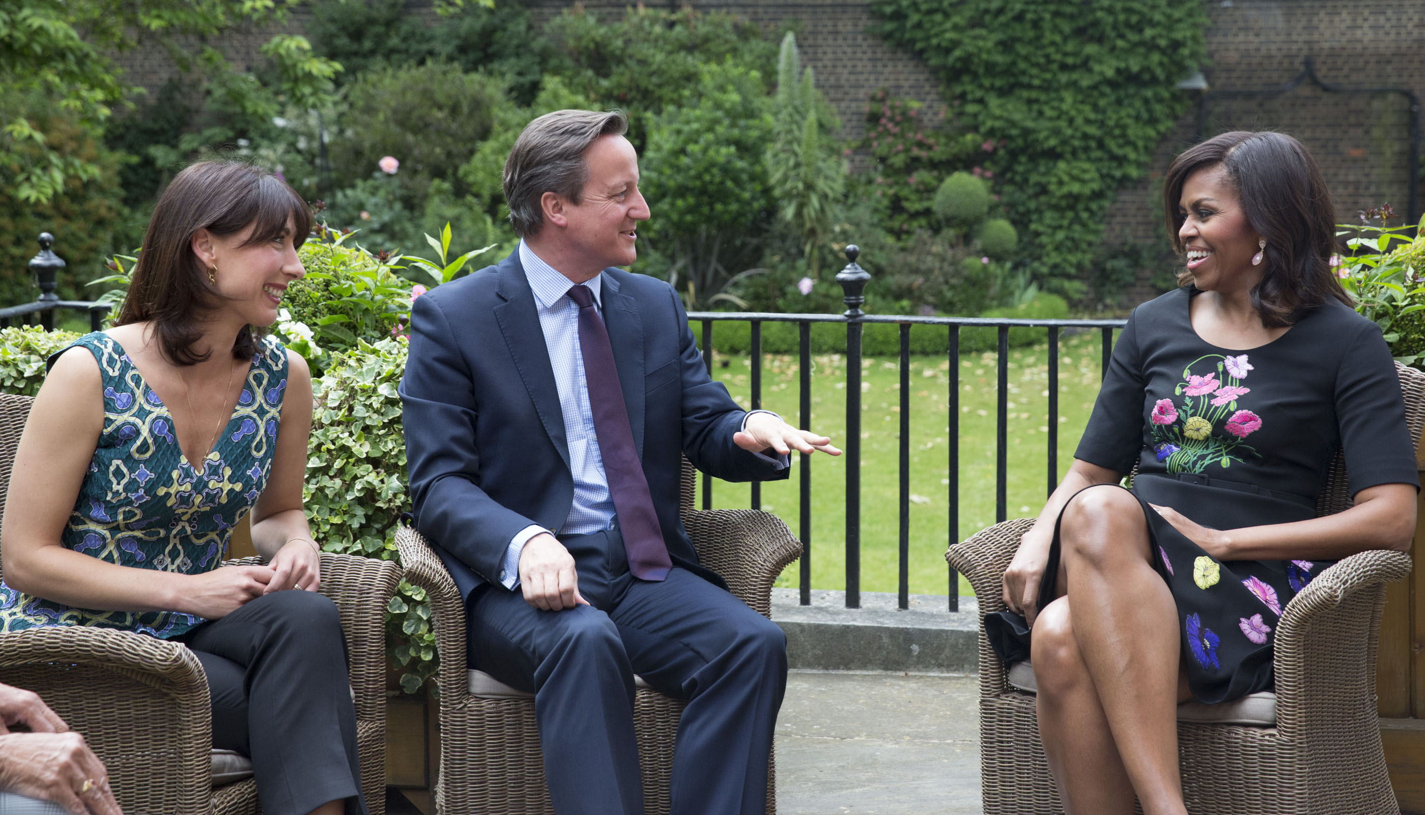 The First Lady Meets with Prime Minister Cameron