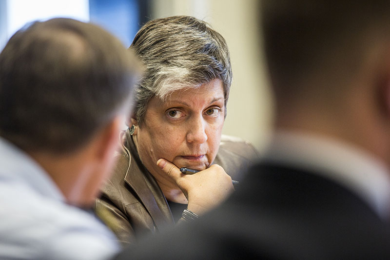 Homeland Security Secretary Napolitano Attends an Operational Briefing
