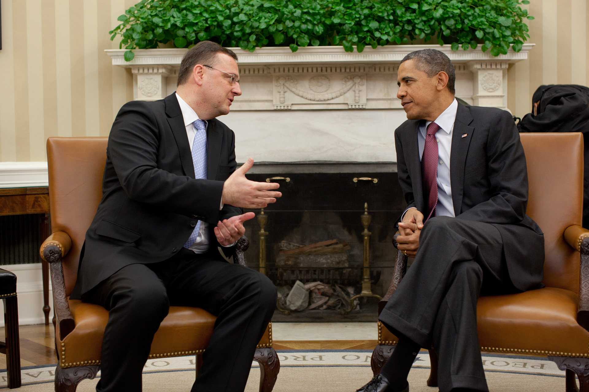 Talk with Prime Minister Petr Necas of the Czech Republic