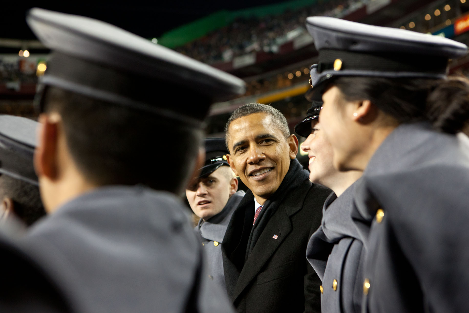 20111210 POTUS Army-Navy game