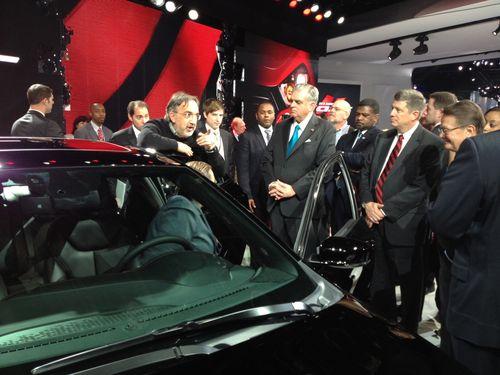 Secretary LaHood at the North American Auto Show
