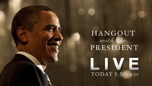 Watch the Google Hangout with President Obama