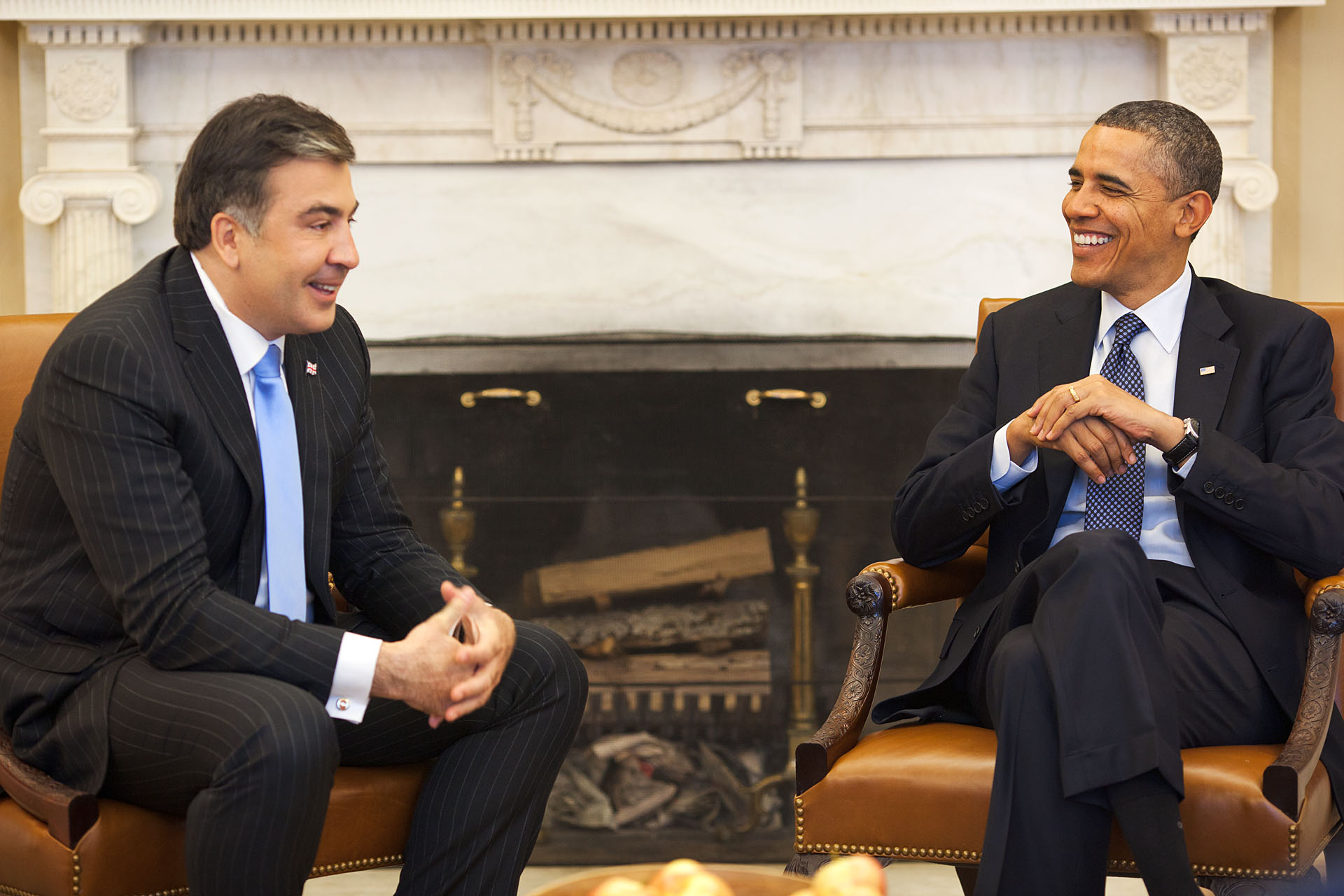 President Obama Welcomes President Mikheil Saakashvili of Georgia