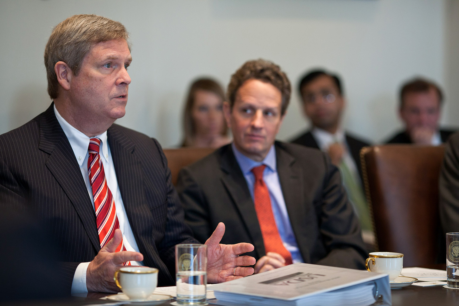 Agriculture Secretary Tom Vilsack speaks during the Cabinet meeting (January 31, 2012