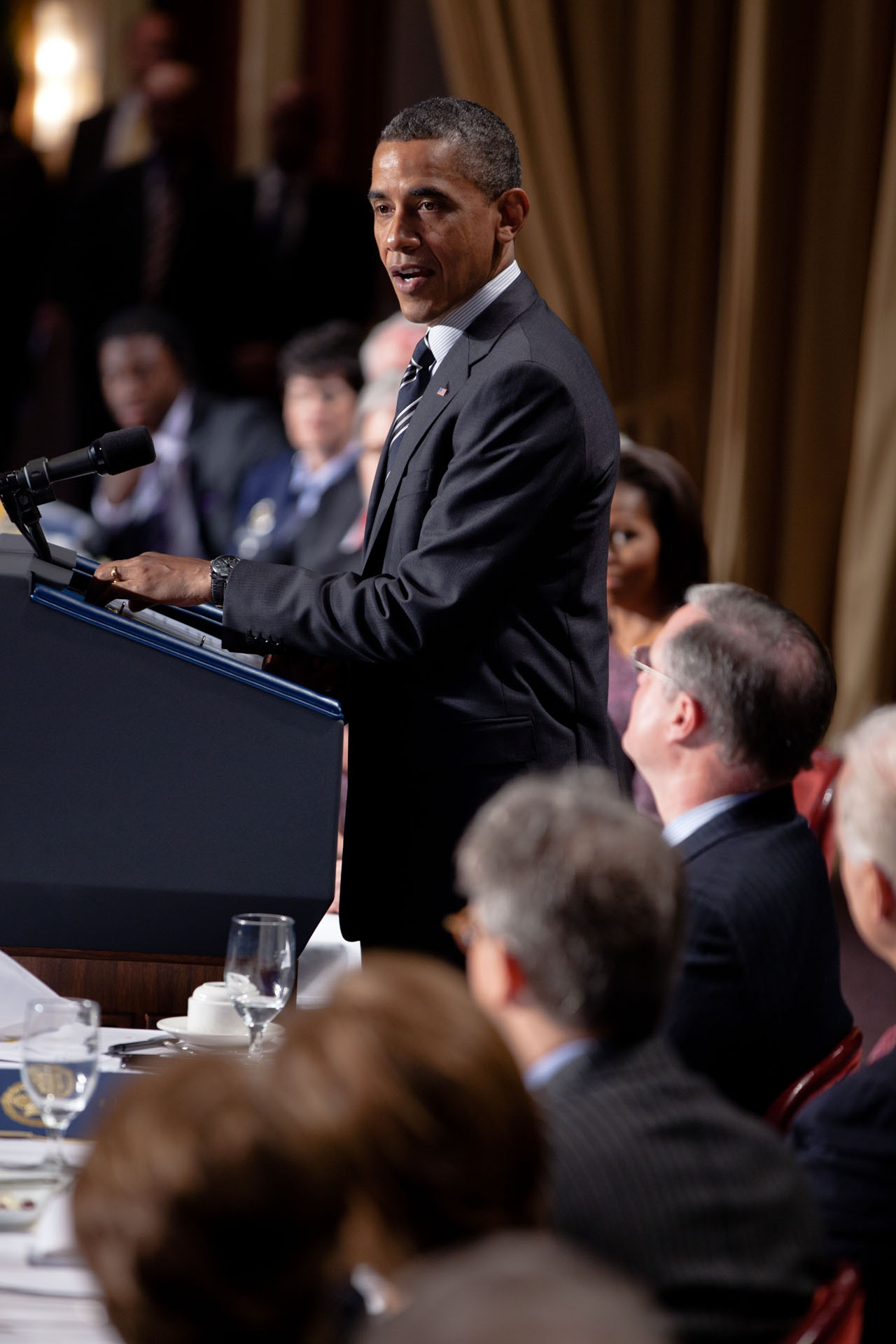 President Barack Obama at National Prayer Breakfast (February 2, 2012)