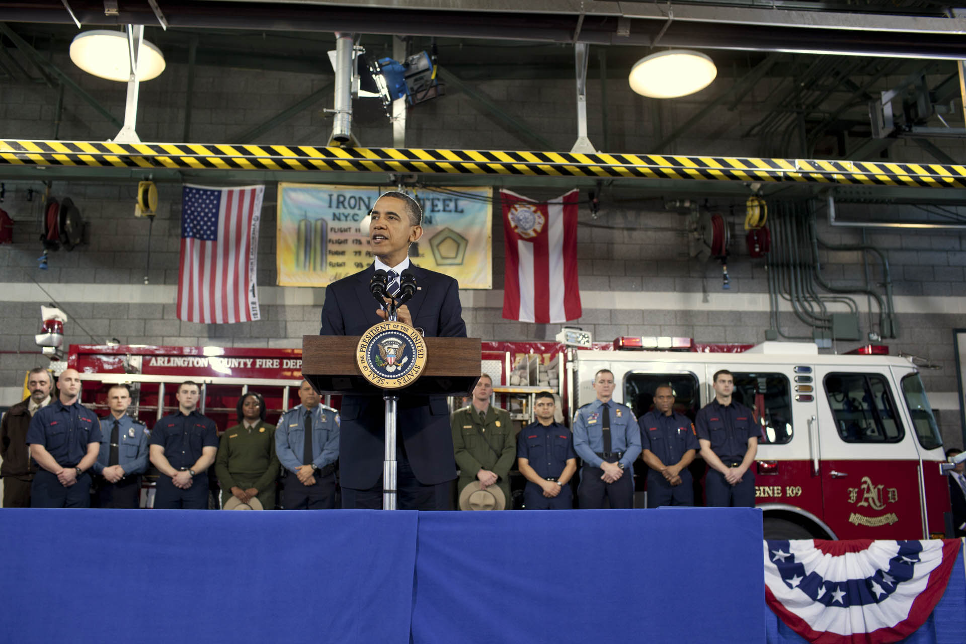 President Barack Obama delivers remarks on the Veterans Job Corp (February 3, 2012)