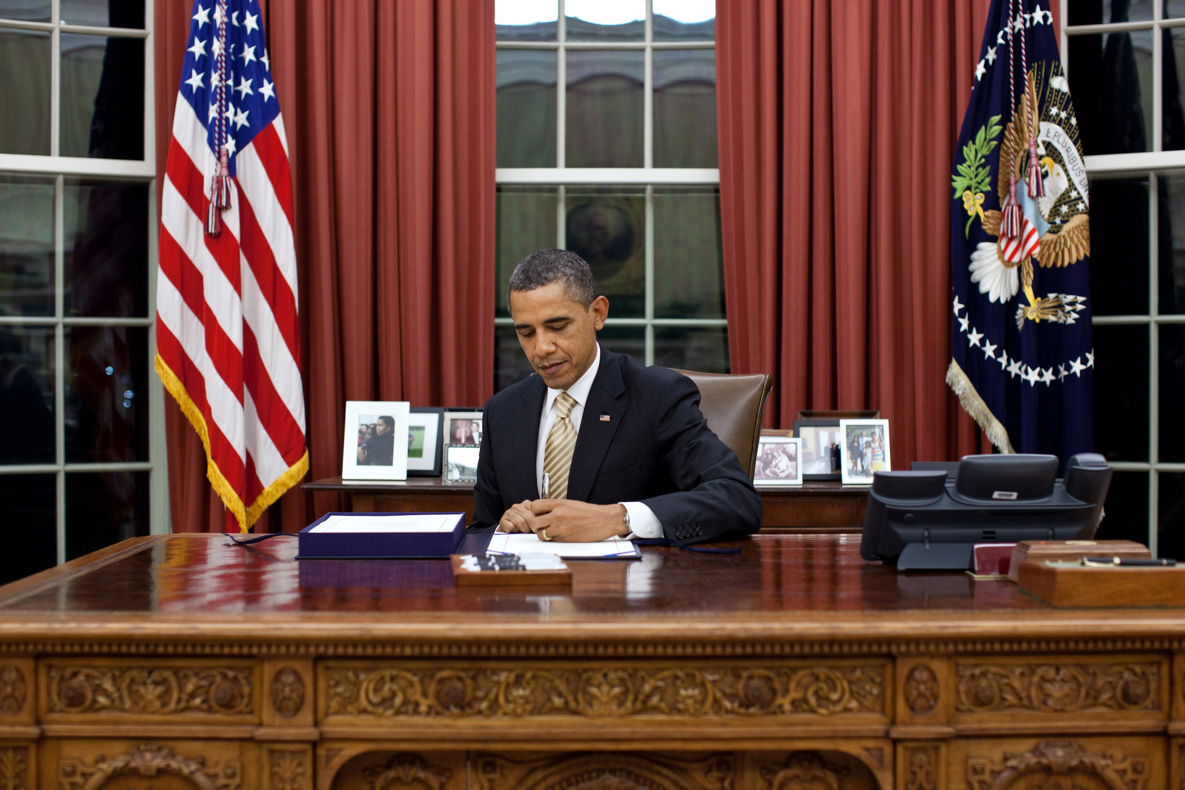 President Obama signs the payroll tax cut (February 22, 2012)