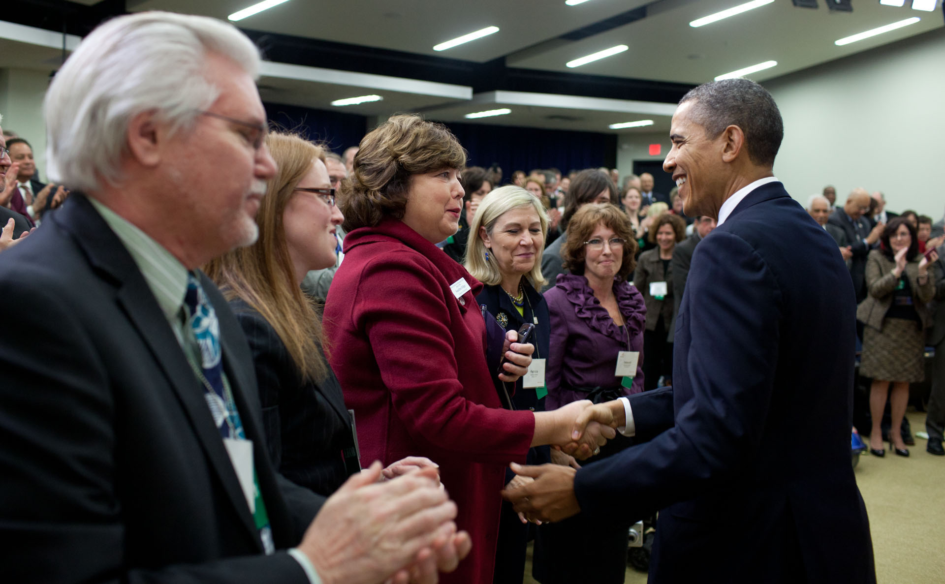 President Barack Obama drops by The Arc community leaders briefing (February 10, 2012)
