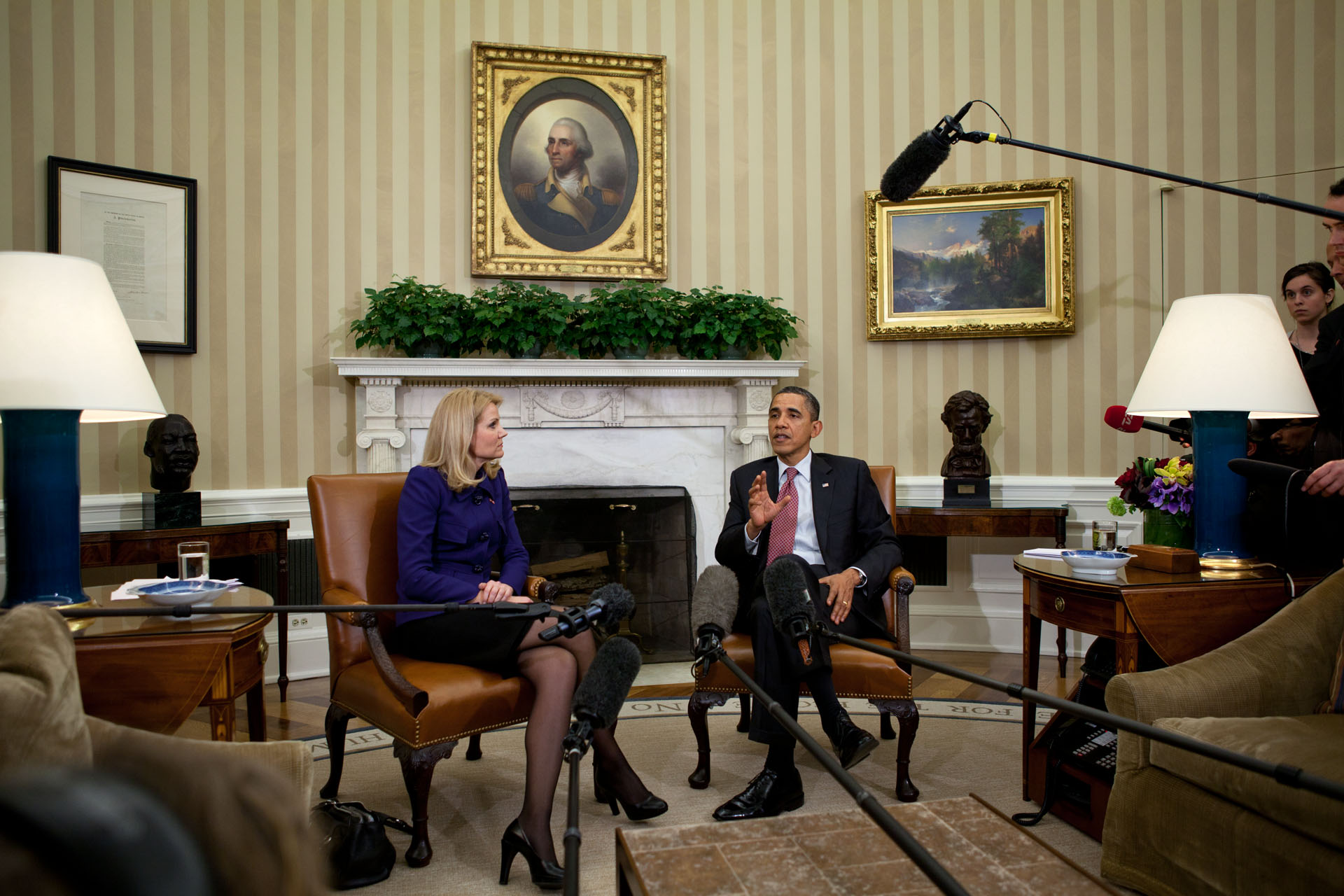President Barack Obama and Prime Minister Helle Thorning-Schmidt of Denmark (February 24, 2012)