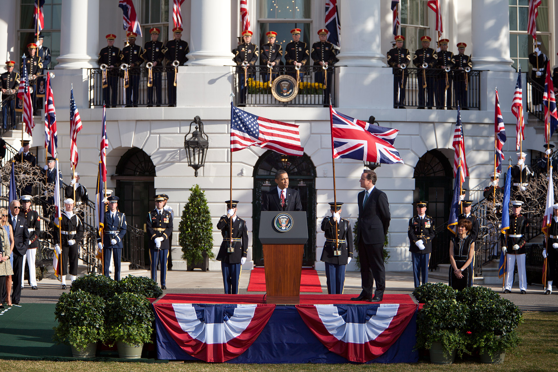 President Barack Obama delivers remarks during an Official Arrival Ceremony (March 14, 2012)