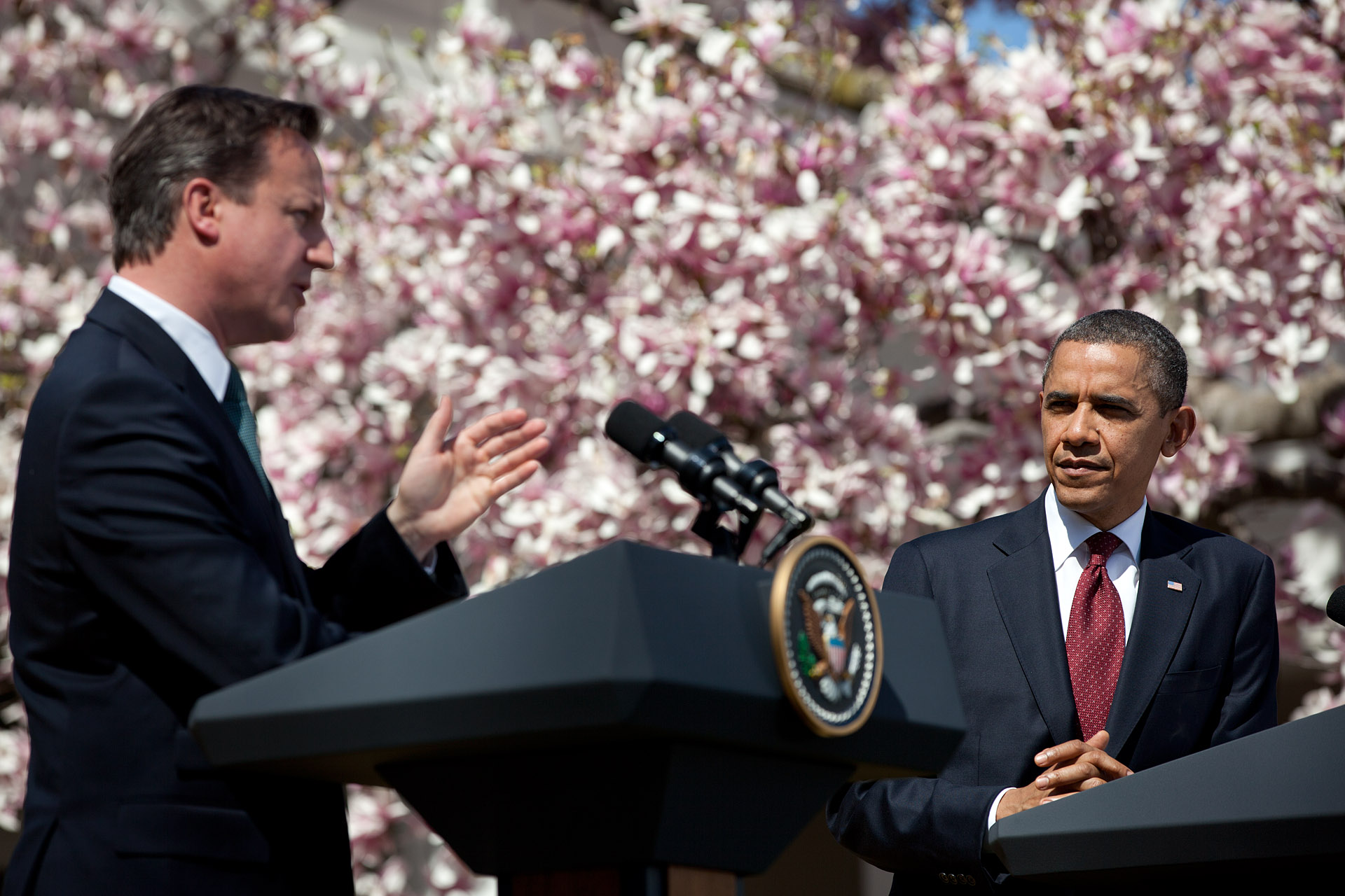President Barack Obama and Prime Minister David Cameron of the United Kingdom hold a press conference (March 14, 2012)