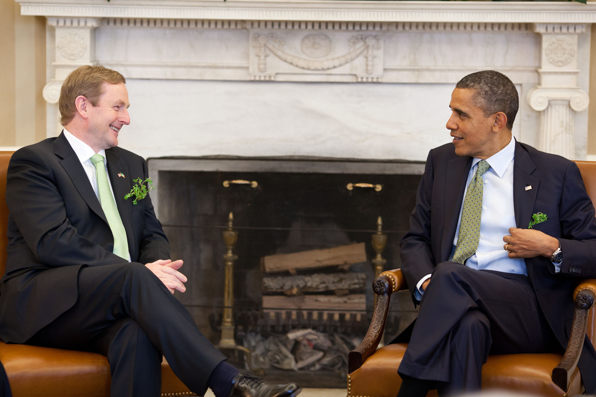 President Barack Obama meets with Taoiseach Enda Kenny of Ireland (March 20, 2012)