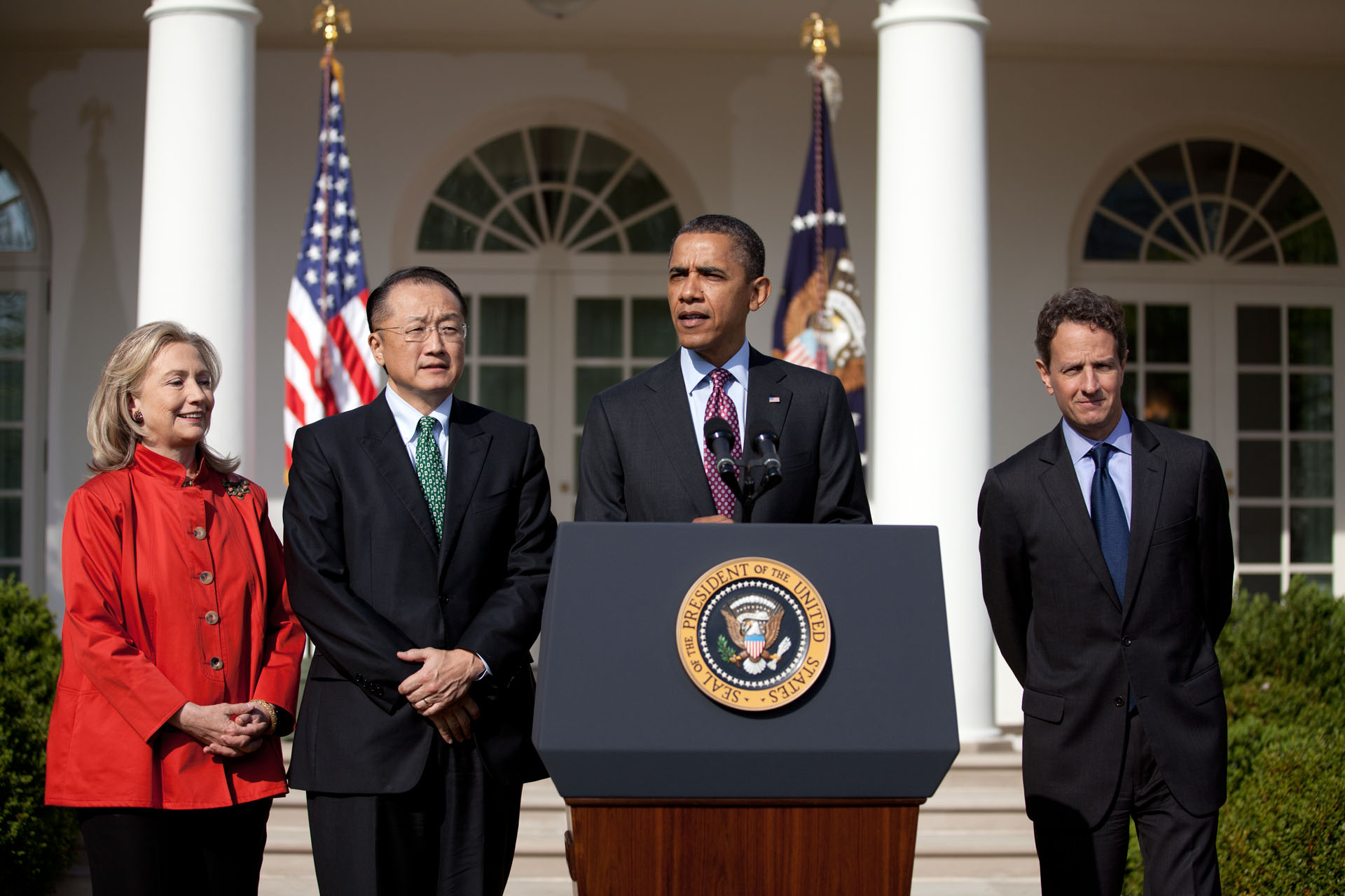 President Barack Obama announces Dr. Jim Yong Kim as his nominee to head the World Bank (March 23, 2012)