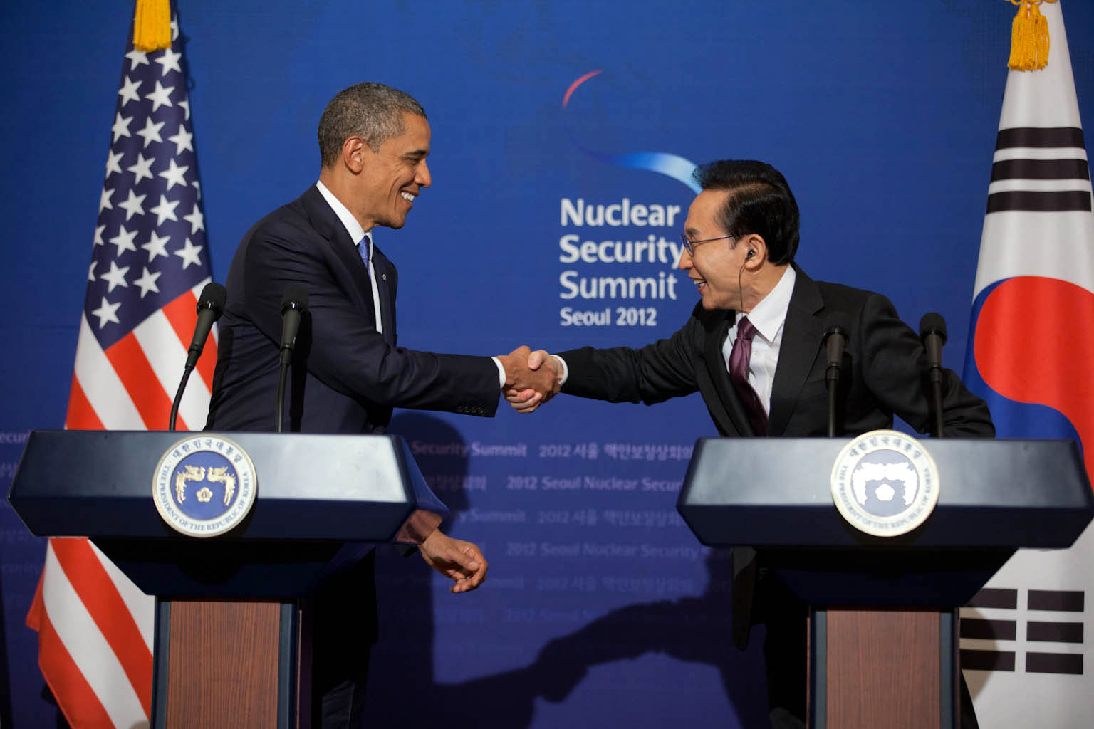 President Barack Obama and President Lee Myung-bak (March 25, 2012)