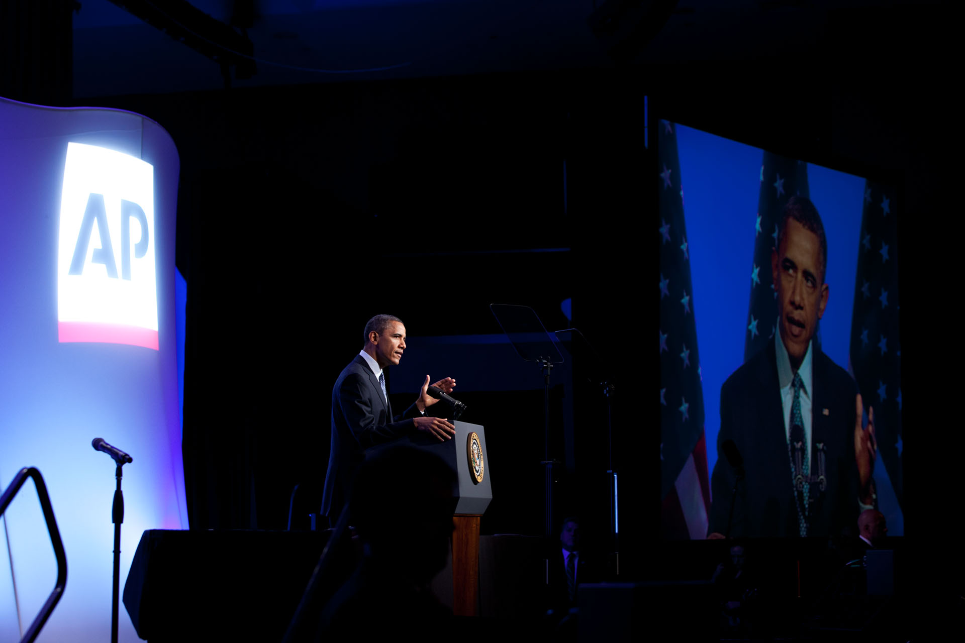 President Obama delivers remarks at the Associated Press Luncheon (April 3, 2012)