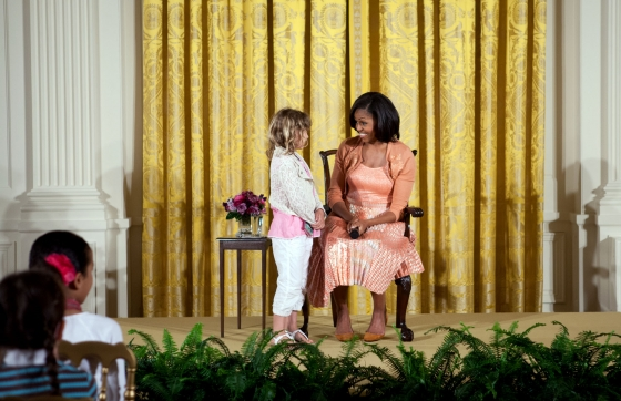 First Lady Michelle Obama answers questions from children of White House staff (April 26, 2012)