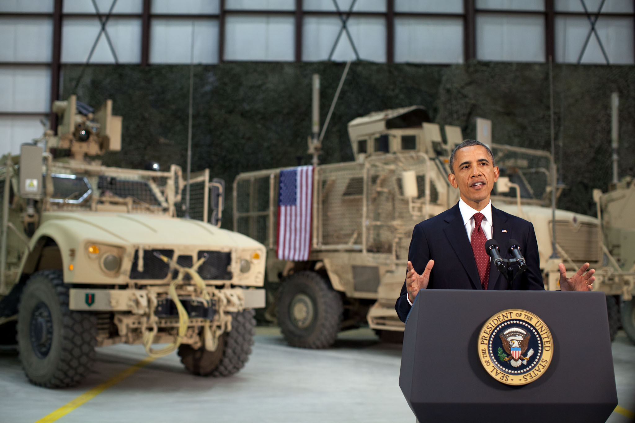 President Barack Obama addresses the nation from Bagram Air Field, Afghanistan (May 1, 2012)