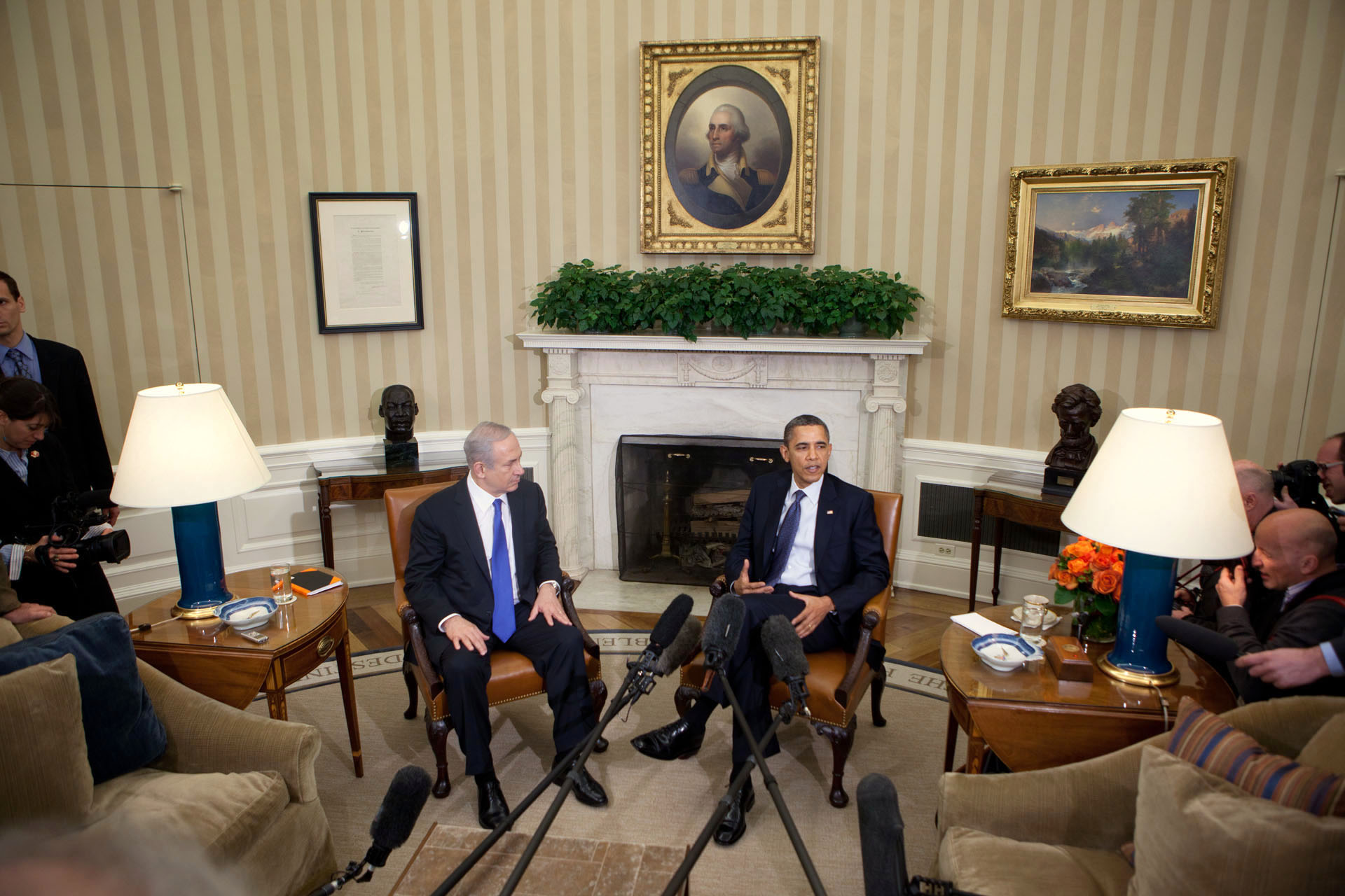 President Barack Obama and Prime Minister Benjamin Netanyahu of Israel (March 5, 2012)