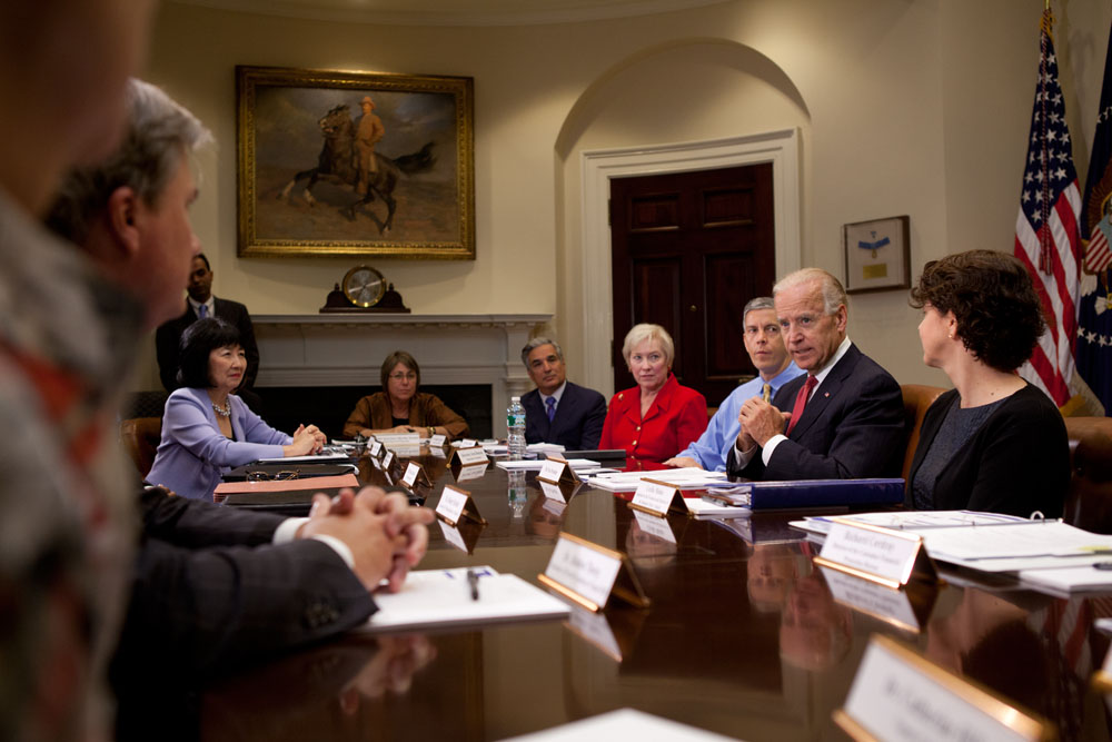 Vice President Joe Biden holds a meeting on transparency in college costs (June 5, 2012)
