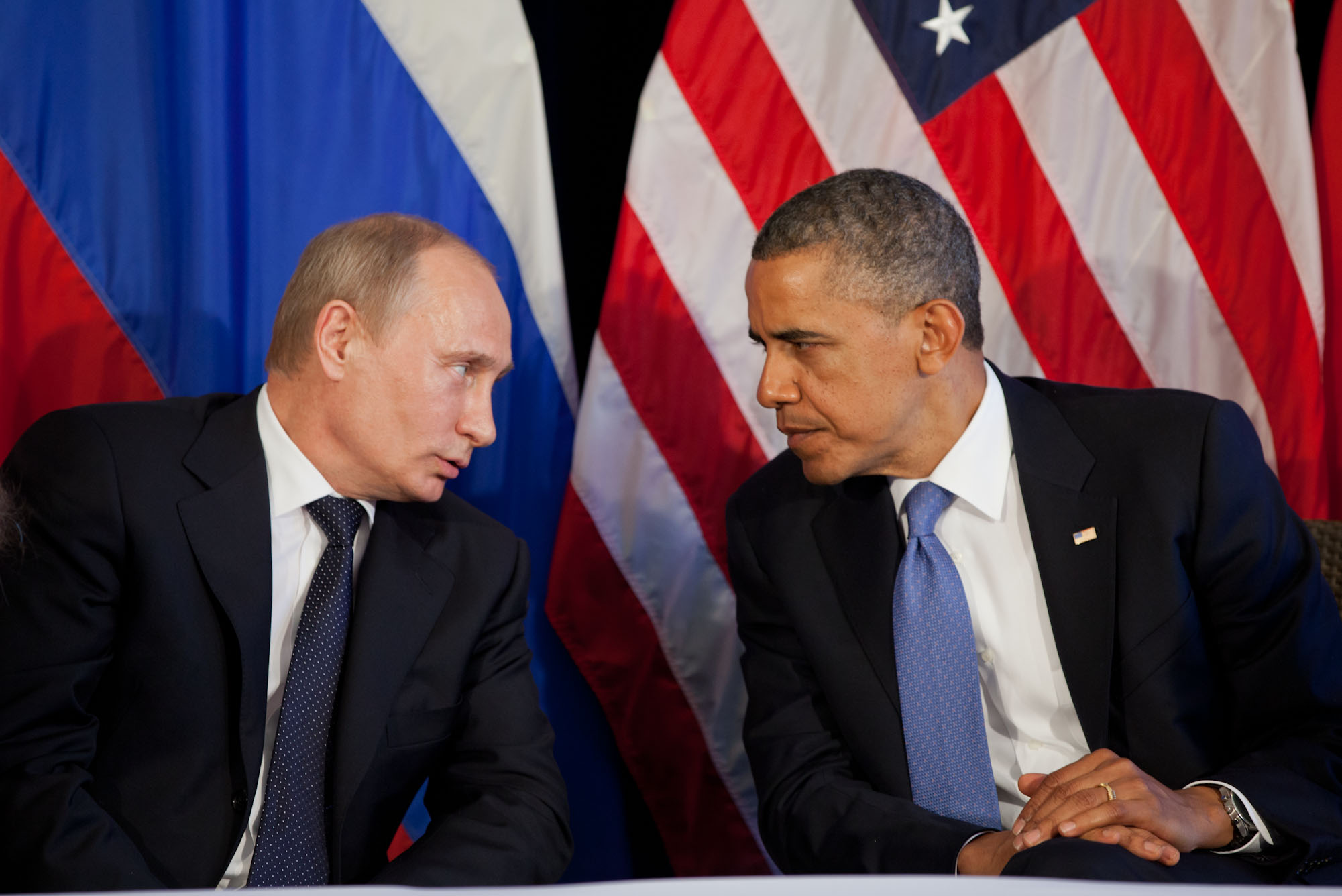 President Barack Obama participates in a bilateral meeting with President Vladimir Putin of Russia (June 18, 2012)