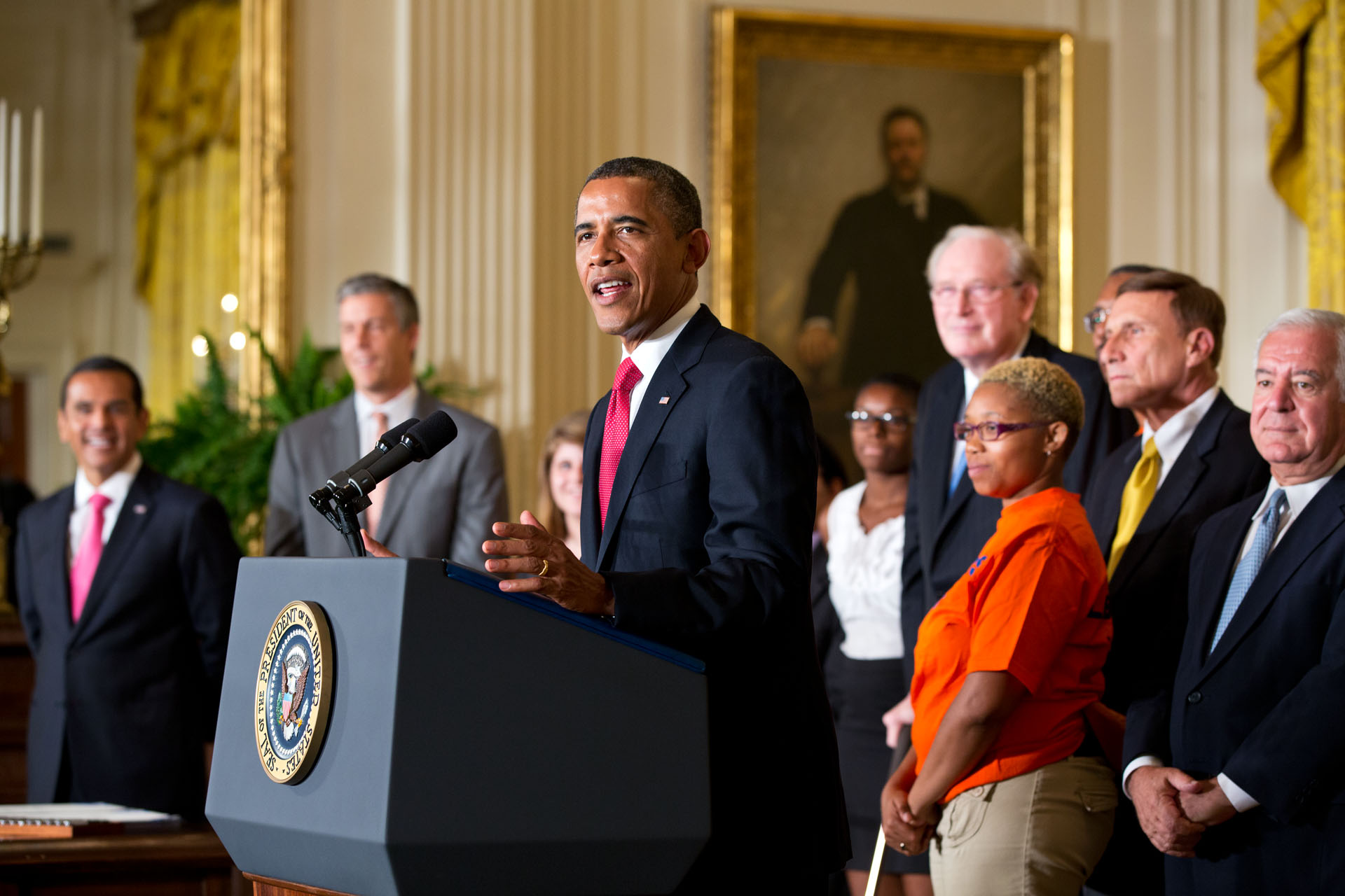 President Barack Obama delivers remarks before signing HR 4348 (July 6, 2012)
