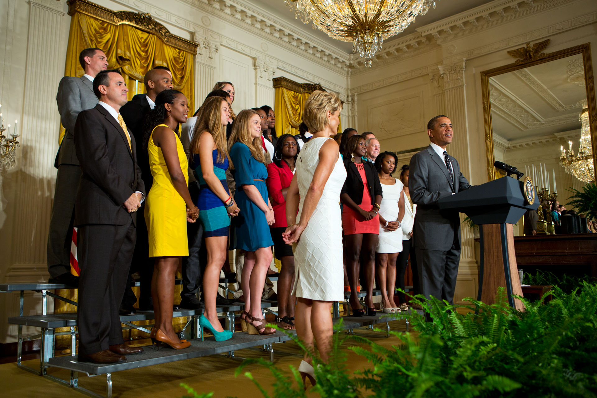 President Barack Obama welcomes the 2012 NCAA Women's Basketball Champion Baylor Bears to the White House (July 18, 2012)