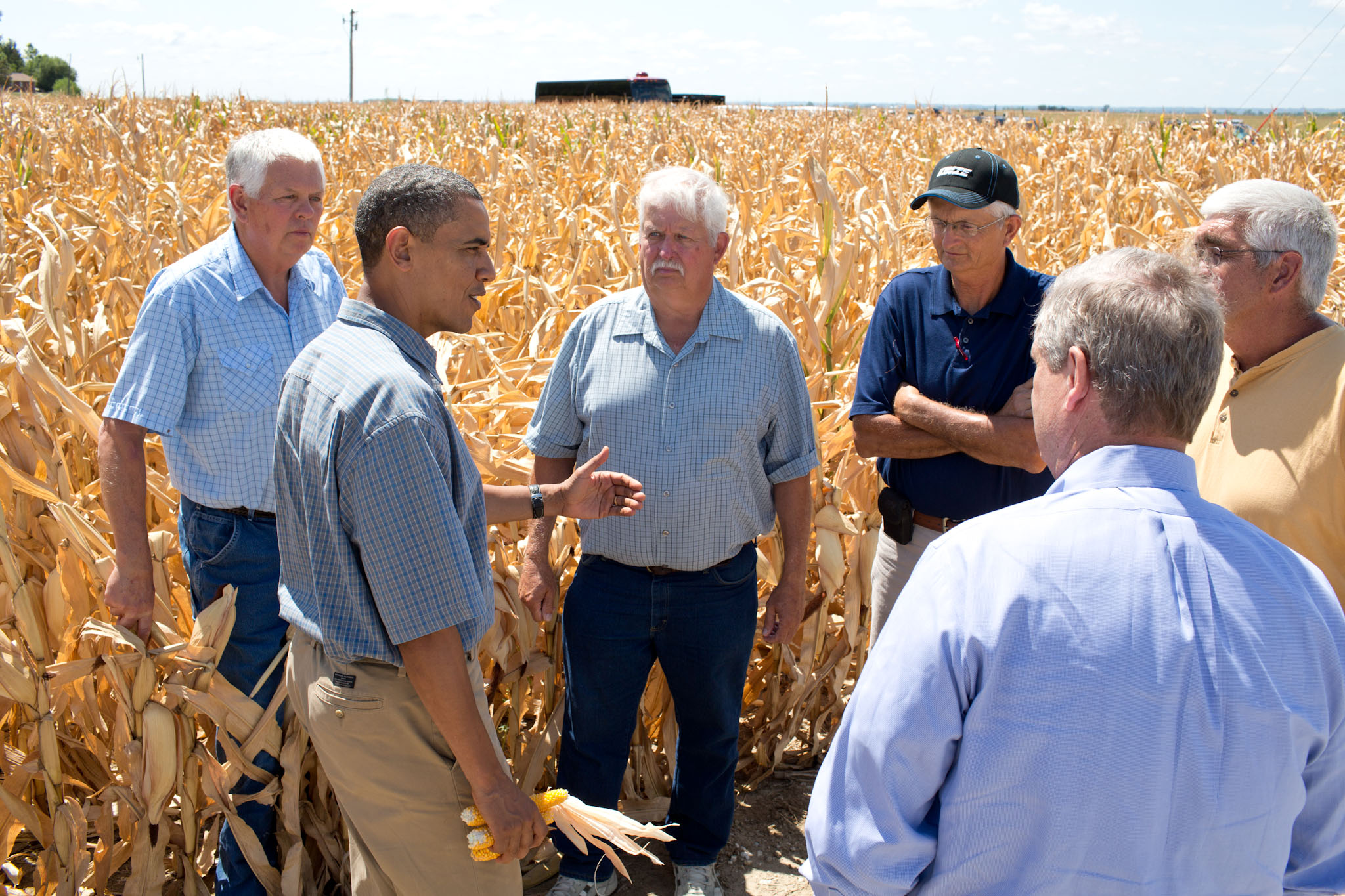 President Barack Obama tours the McIntosh family farm (August 13, 2012)